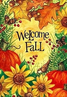 "Welcome Fall - House Flag - Fall 28"" x 40"""
