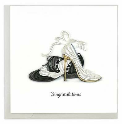Quilling Card - First Dance - Congratulations - handcrafted - Blank inside