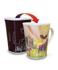 Moose Colour Changing Mug - Canadian Images Wildlife Edition