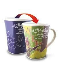 Mother Colour Changing Mug - A Mother gives her child the heart to Love and the strength to soar
