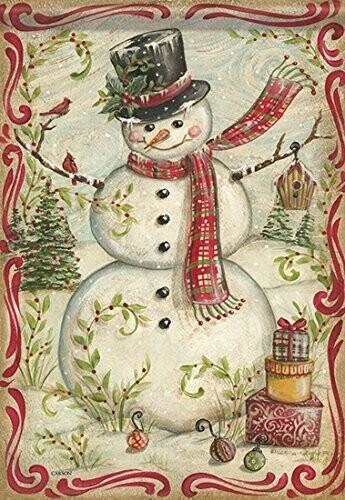 """Nostalgia Snowman - Garden Flag - 12.5 """" x 18"""""""