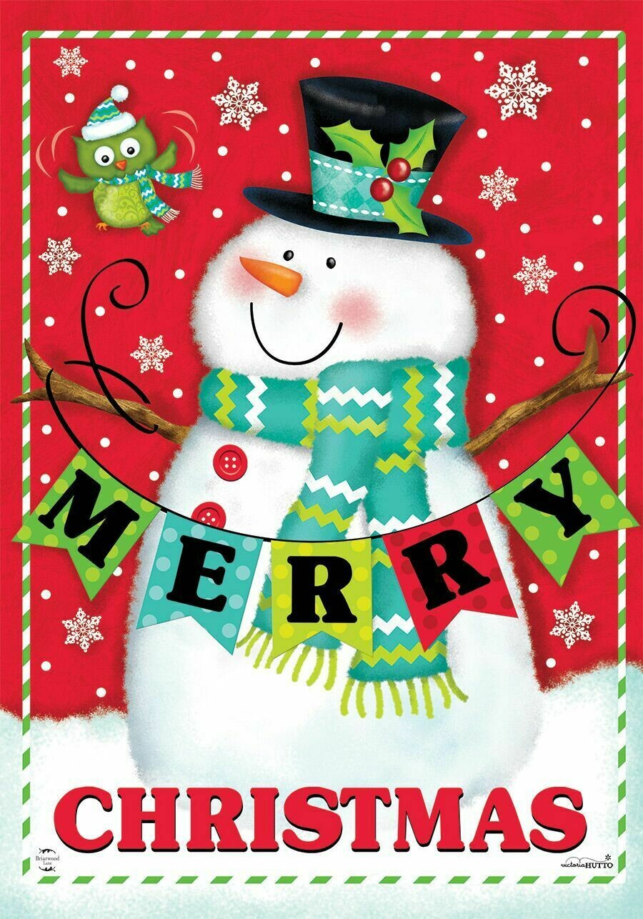 """Merry Christmas"" Pals - Garden Flag - Christmas - 12.5 "" x 18"""