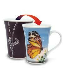 Change Colour Changing Mug - Be the Change - Monarch Butterfly