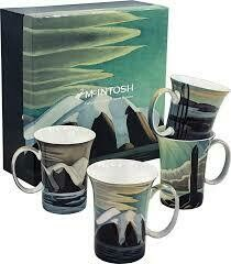 Lawren S. Harris - Canadian Artist - Set of Four Fine Bone China Mugs in Collector Box