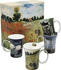Monet - Classics - Set of Four Fine Bone China Mugs in Collector Box