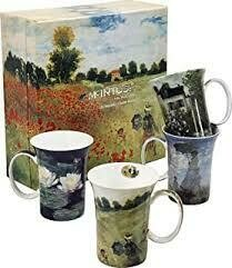 Monet - Classics - Set of Four Fine Bone China Mugs in Collector Box