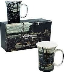 Tom Thomson, The Canoe / The West Wind - Canadian Artist - Set of Two Fine Bone China Mugs in Collector Box