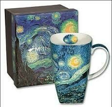 Van Gogh - Starry Night Single Fine Bone China Grande Mug in Collector Box - Large Tall Mug
