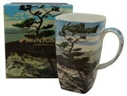 A.J. Casson - White Pine - Canadian Artist - Single Fine Bone China Grande Mug in Collector Box - Large Tall Mug