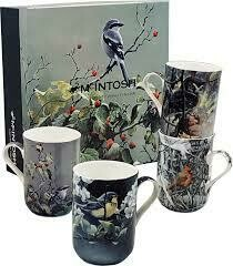 Bateman - Birds - Canadian Artist - Set of Four Fine Bone China Mugs in Collector Box