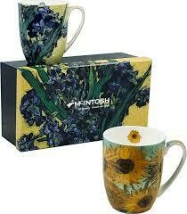 Van Gogh - Flowers - Set of Two Fine Bone China Mugs in Collector Box