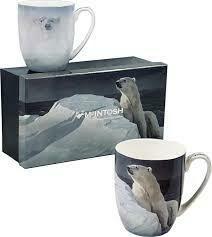 Bateman - Polar Bears - Canadian Artist - Set of Two Fine Bone China Mugs in Collector Box