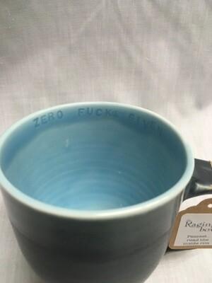 Sassy Mug - With inside mug Inscription - Zero F#@ks Given
