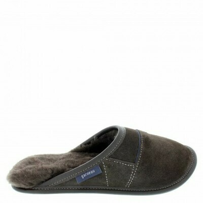 Mens Slip-on - 10.5/11.5  Brown with Brown Fur