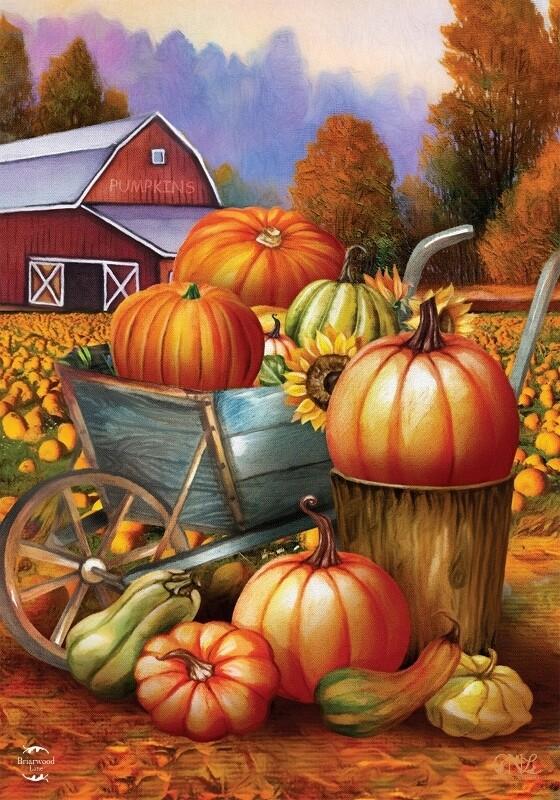 "Pumpkin Farm - Garden Flag - 12.5 "" x 18"""