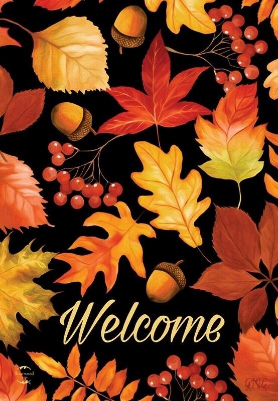 """Fall Leaves - Garden Flag - 12.5 """" x 18"""""""