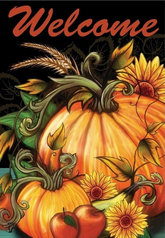 "Autumn Harvest - Garden Flag - 12.5 "" x 18"""