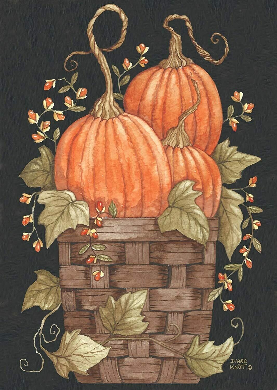 """Pumpkin Trio - Garden Flag - 12.5 """" x 18"""""""