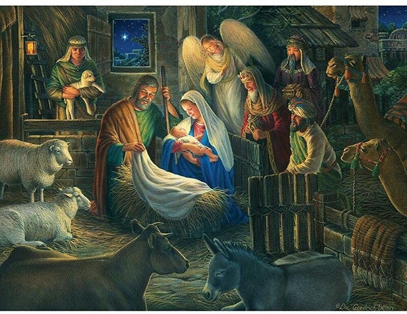 Away in a Manger  - 500 Piece Cobble Hill Puzzle