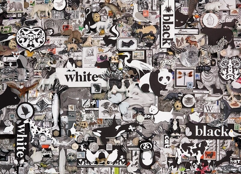 Black and White: Animals - 1000 Piece Cobble Hill Puzzle