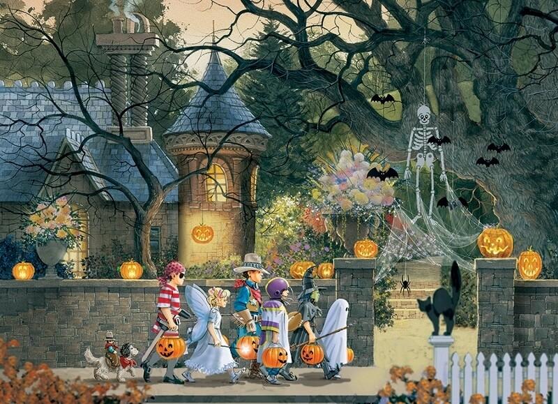 Halloween Buddies - 500 piece Cobble Hill Puzzle