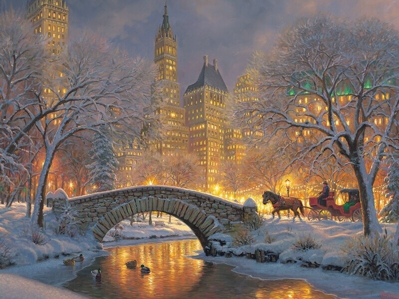 Winter in the Park - 500 Piece Cobble Hill Puzzle