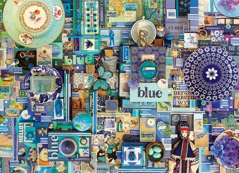 Blue - 1000 Piece Cobble Hill Puzzle