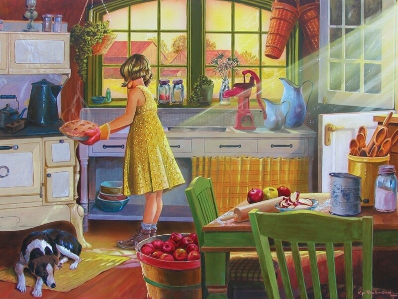 Apple Pie Kitchen - 500 Piece Cobble Hill Puzzle
