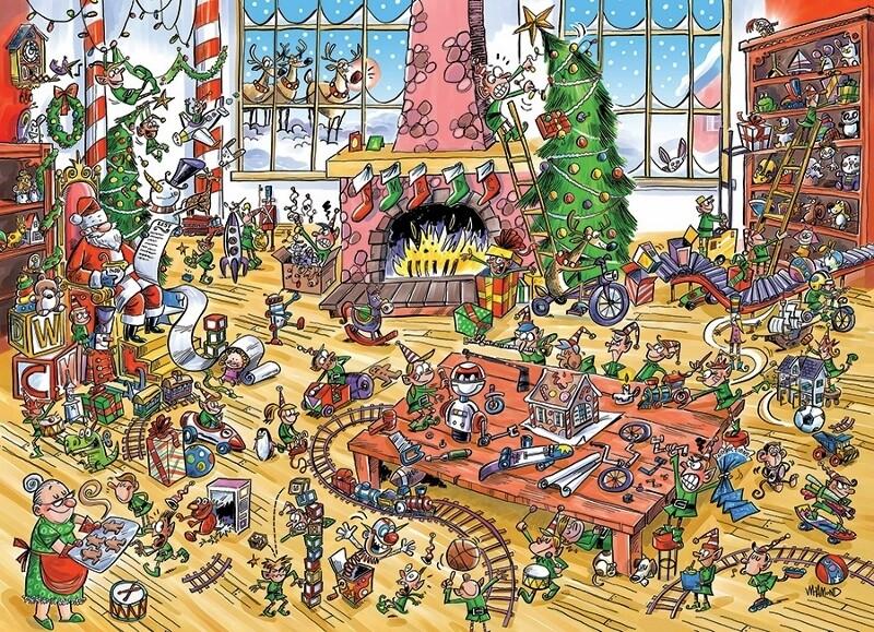 Elves at Work, Doodletown - 1000 Piece Cobble Hill Puzzle