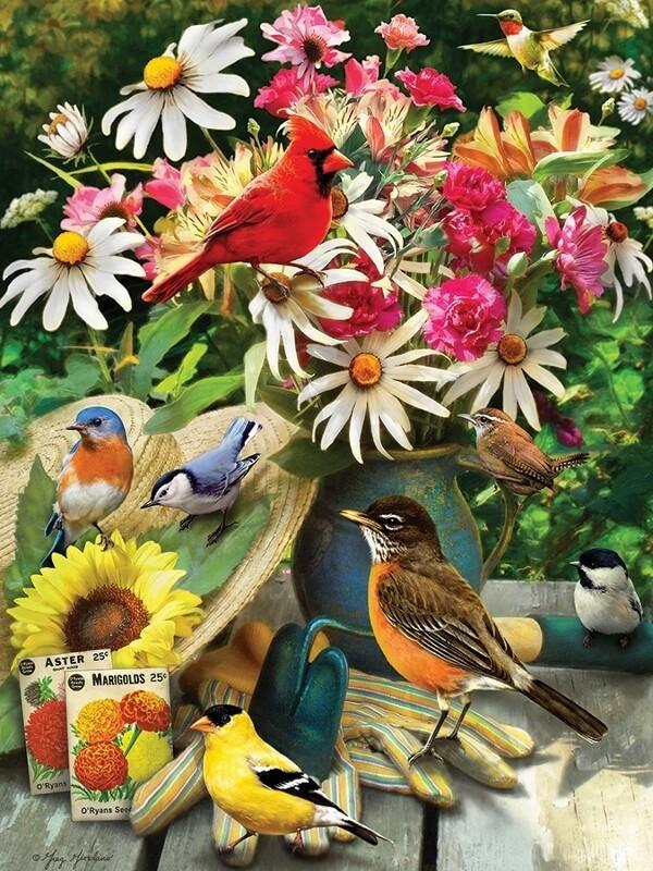 Garden Birds - 500 Piece Cobble Hill Puzzle