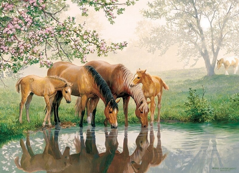 Horse Family - Family Pieces - 350 piece Cobble Hill Puzzle