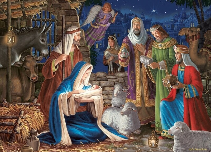 Miracle in Bethlehem, Nativity - 1000 Piece Cobble Hill Puzzle