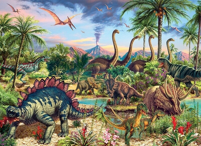 Prehistoric Party - Family Pieces - 350 Piece Cobble Hill Puzzle