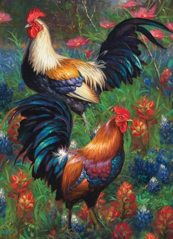 Roosters - 1000 Piece Cobble Hill Puzzle