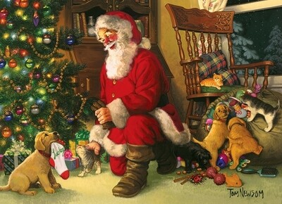 Santa's Lucky Stocking - Family Pieces - 350 Piece Cobble Hill Puzzle