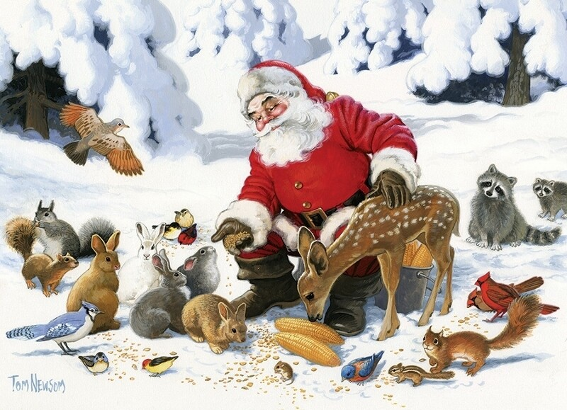 Santa Claus and Friends - Family Pieces - 350 Piece Cobble Hill Puzzle