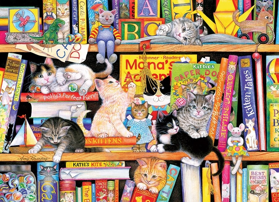 Storytime Kittens - Family Pieces - 350 Piece Cobble Hill puzzle