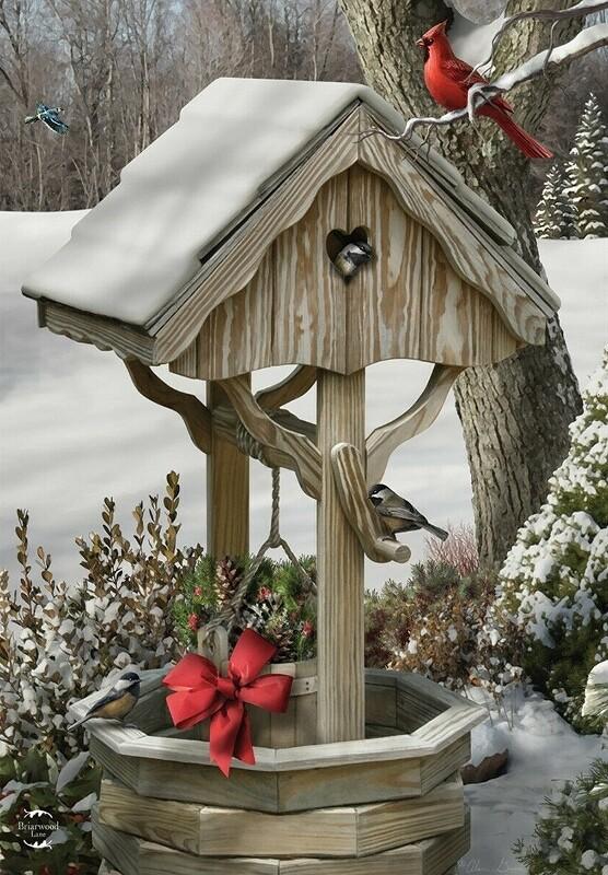 """Winter Wishes - Garden Flag - 12.5 """" x 18"""""""