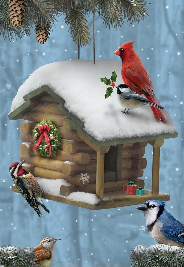 "Festive Feathered Friends - Garden Flag - 12.5 "" x 18"""