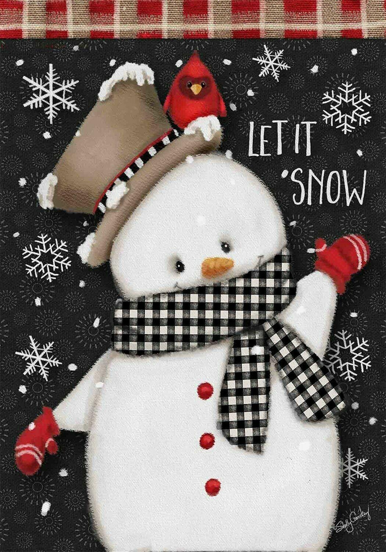 "Celebrate Winter Snowman - Garden Flag - 12.5 "" x 18"""