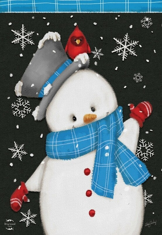 "Jolly Winter Snowman - Garden Flag - 12.5 "" x 18"""