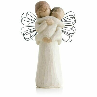 Angel's Embrace - Holding Child - Wire Wings