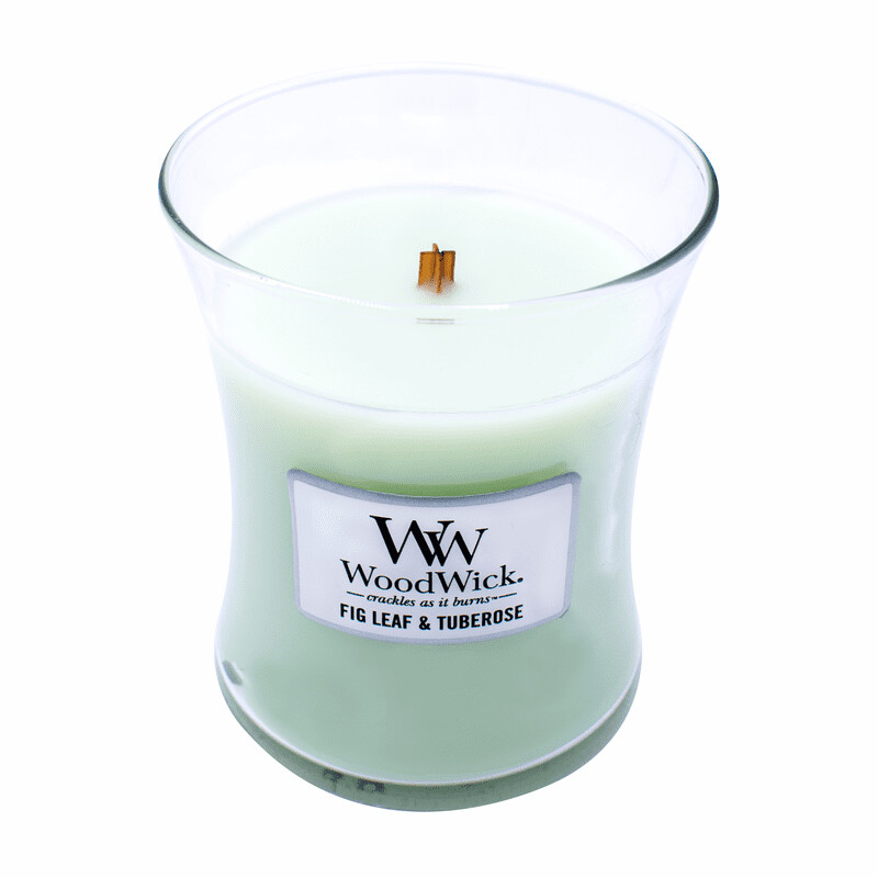 Fig Leaf & Tuberose - Medium - WoodWick Candle