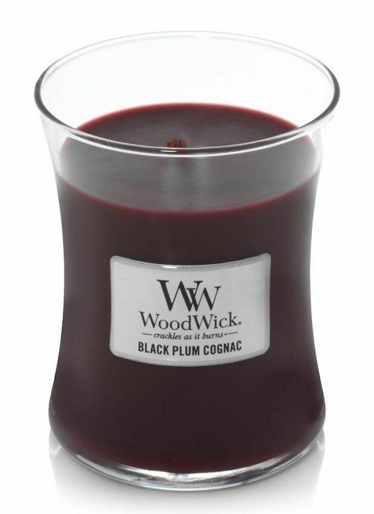 Black Plum Cognac - Medium - WoodWick Candle