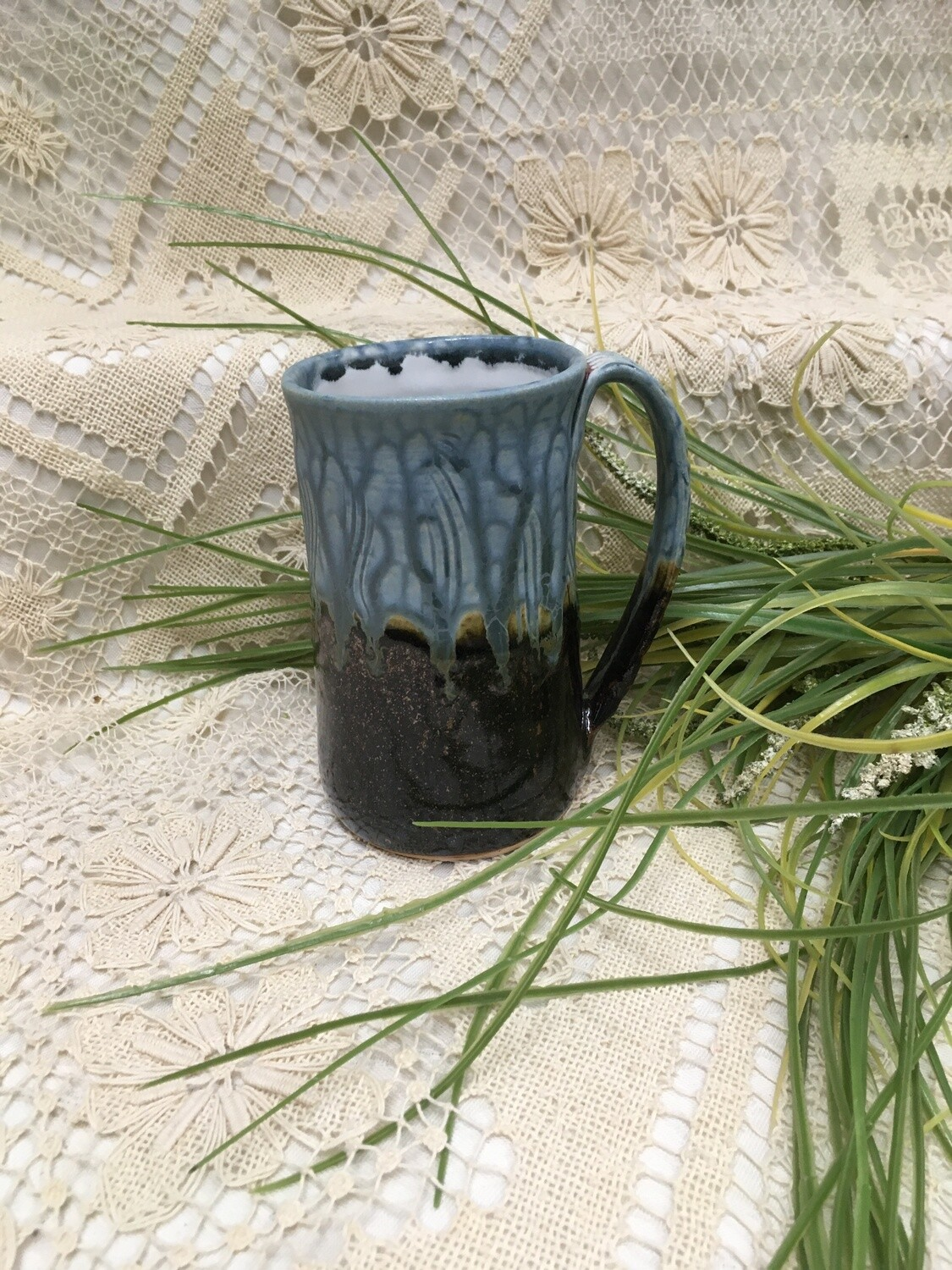 Large Mug, Blue Ash - Parsons Dietrich Pottery - Handmade Canadian