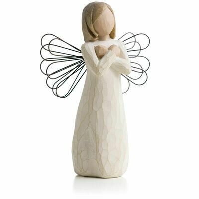 Sign for Love - Angel with Arms Crossed -  Wire Wings
