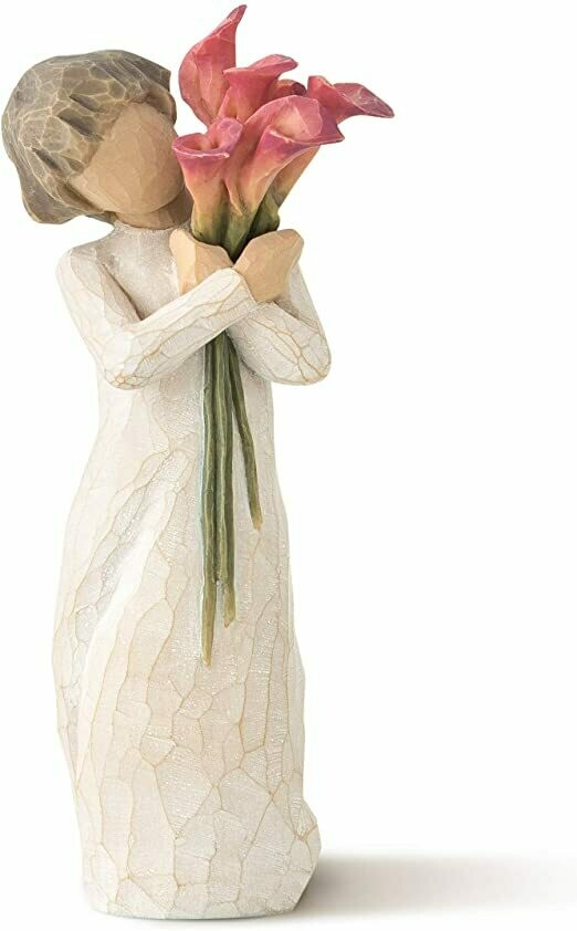 Bloom - Girl holding Pink Calla Lillies/Flowers