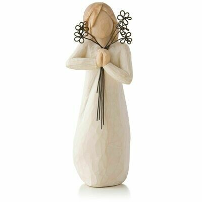 Friendship - Girl holding Wire Flowers