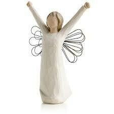 Courage - Angel with Arms Raised - Wire Wings