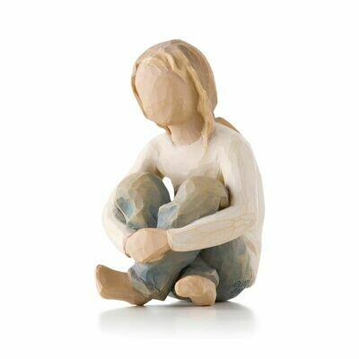 Spirited Child - Girl Sitting Crossed Legged